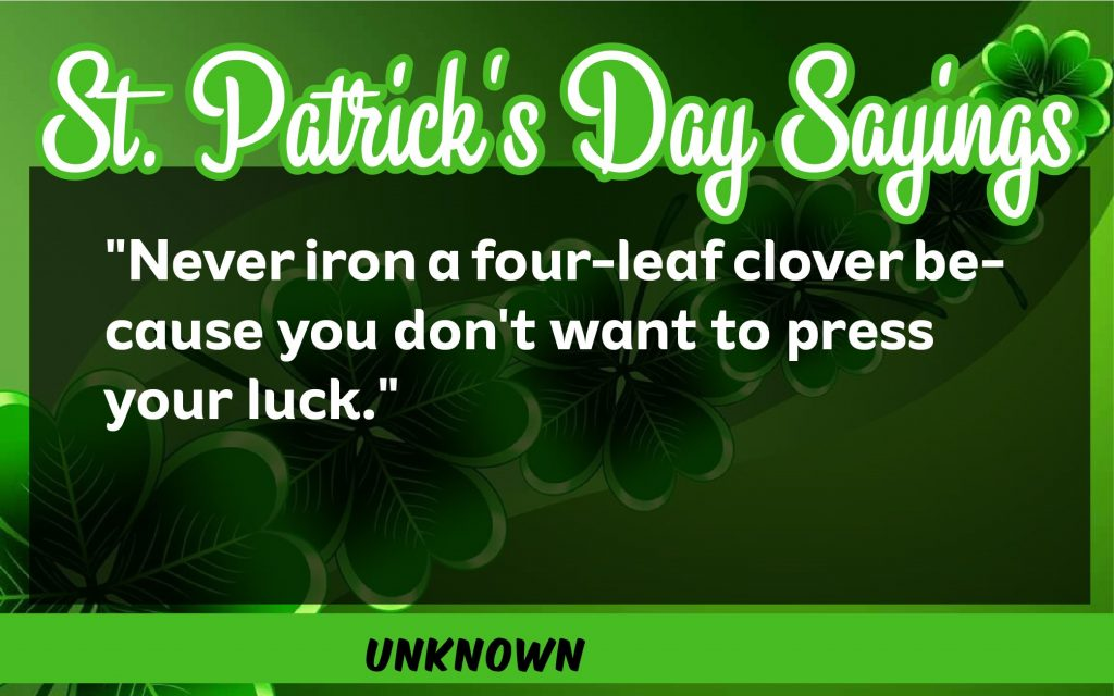 St. Patrick's Day Sayings 2021