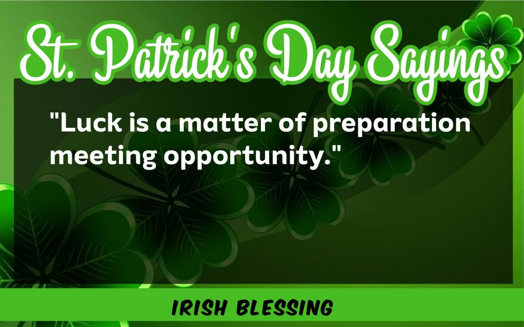 St. Patrick's Day Sayings 2021 Good luck matter