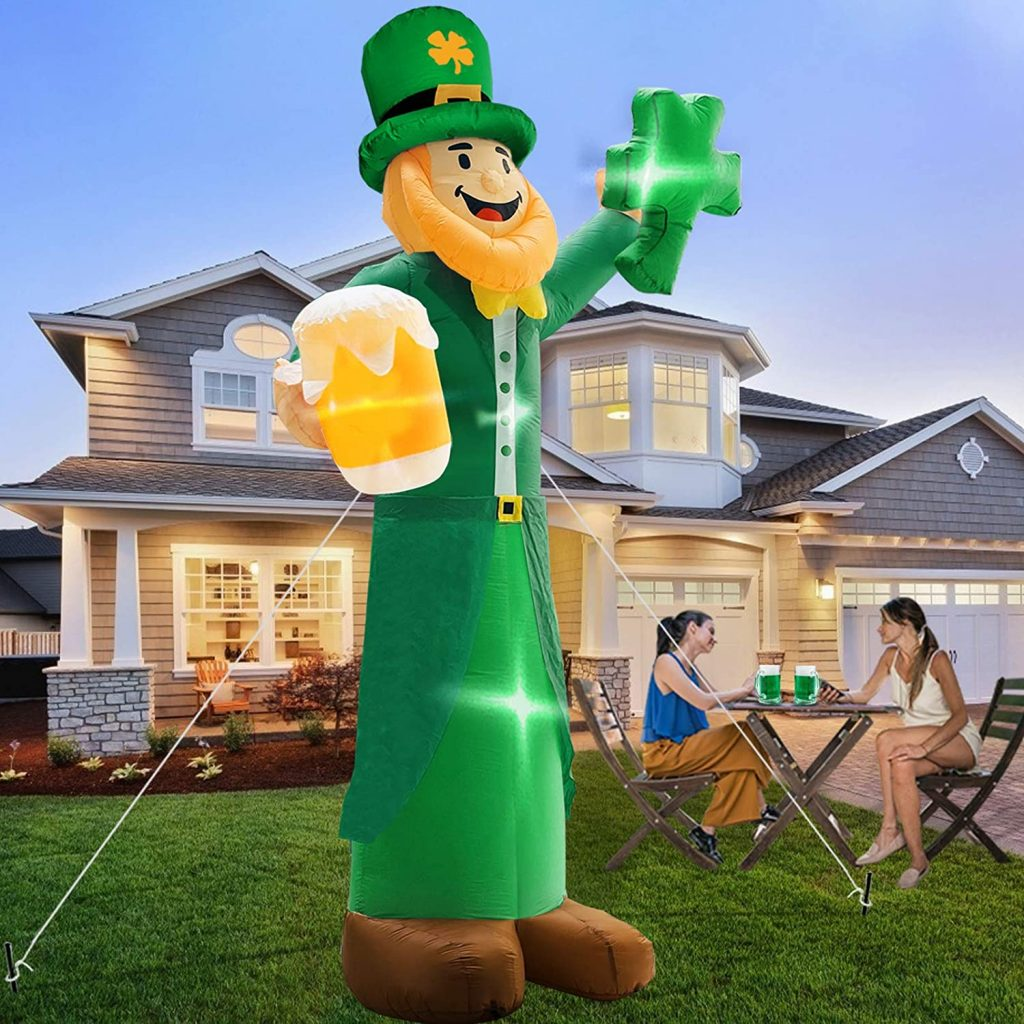 TURNMEON 12 Foot Giant St.Patricks Day Inflatables Outdoor Decorations piece