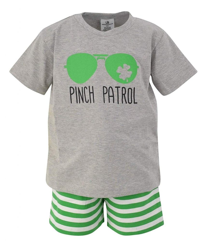 Unique Baby Boys Green St Patrick's Day Pinch Patrol Outfit