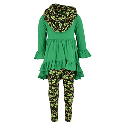 Unique Baby Girls St Patrick's Day Luck of The Irish Legging Set outfit
