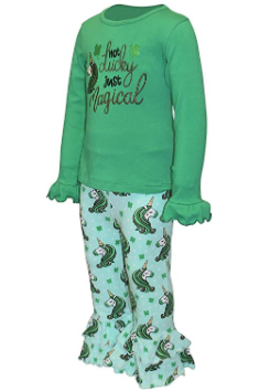Unique Baby Girls Unicorn Ruffle Pants St Patrick's Day Outfit