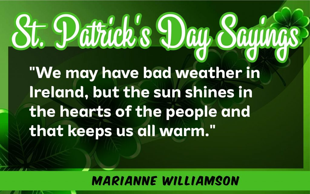 We may have bad St. Patrick's Day Sayings 2021