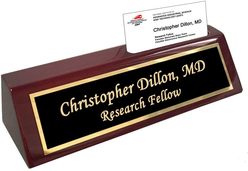 Woodmark Rosewood Desk Wedge with Custom Name Plate international women's daygifts for employees