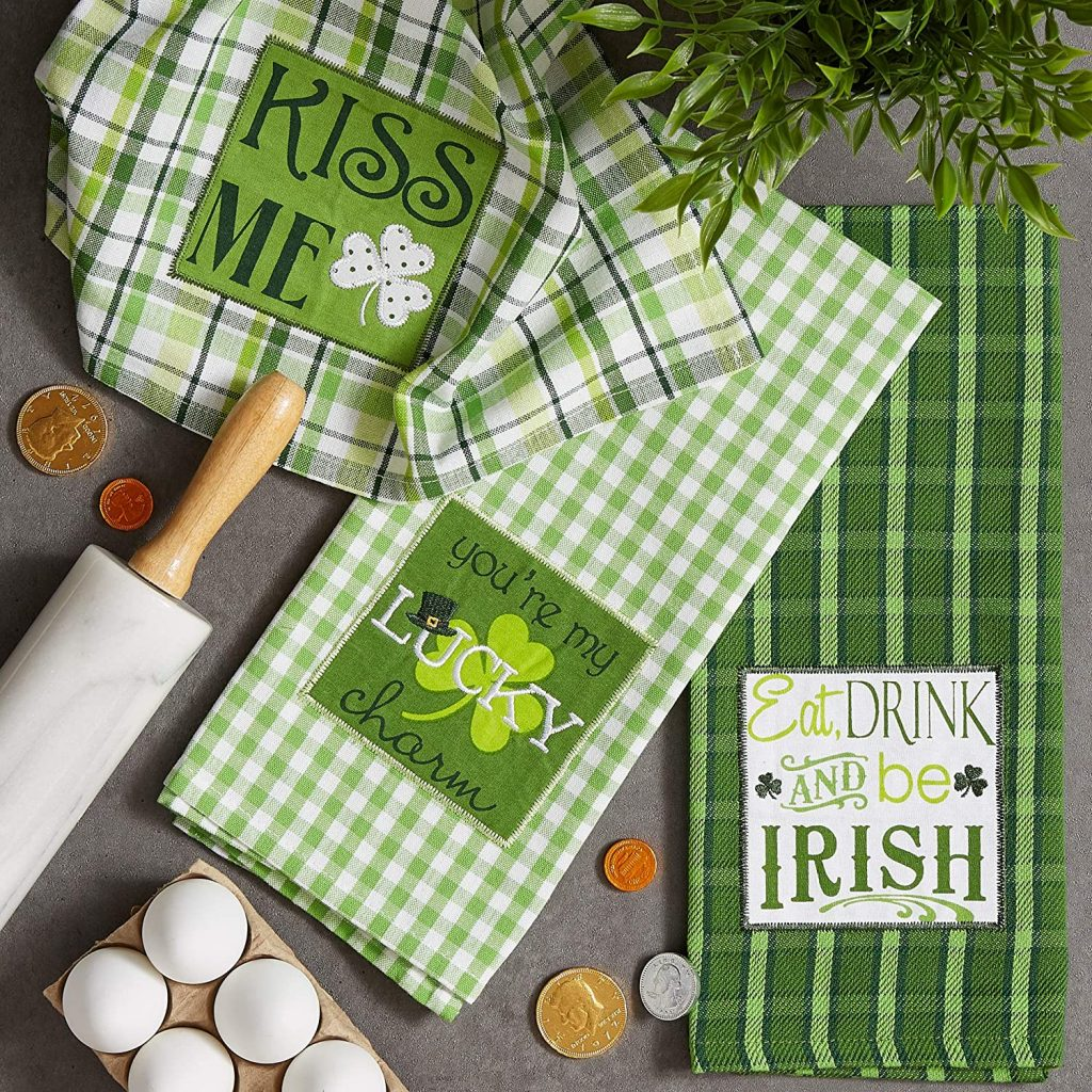 kitchen dish towels or towels Astonishing St Patrick's Day Decorations Ideas