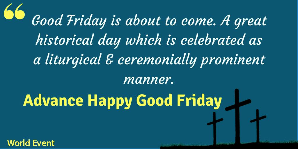 Advance Happy Good Friday