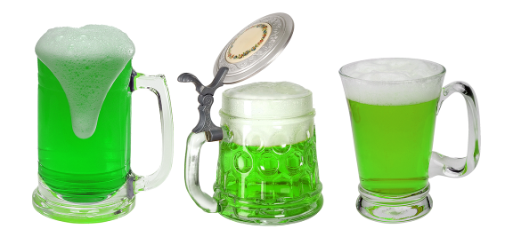 Beer coloring is one of the most traditional events on St. Patrick's Day