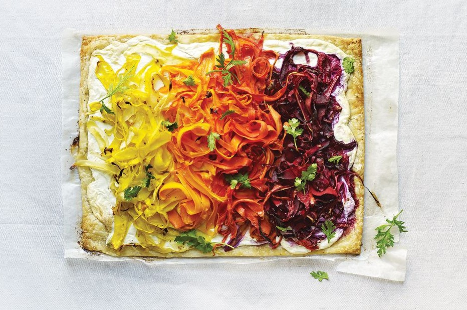 Carrot Tart Cut and Ricotta Delicious Spring Equinox Food Ideas 2021