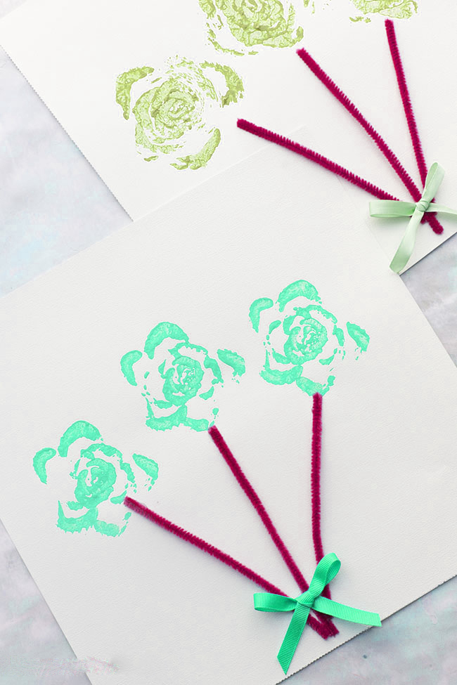 Celery Stamped Flower Bouquet activity