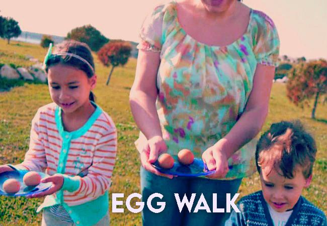 EASTER GAME of egg walk