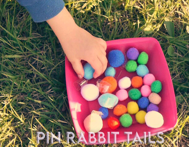 EASTER Sunday GAMES pin rabbit tails