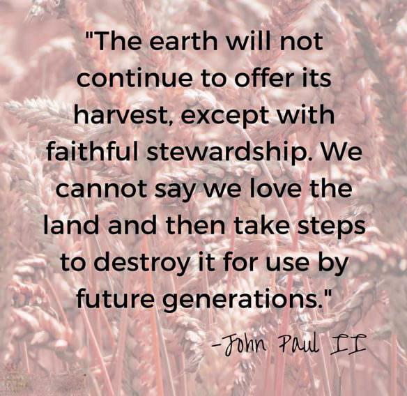 Earth day quotes John Paul II