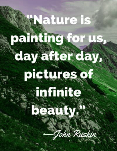 Earth day quotes John Ruskin Shared