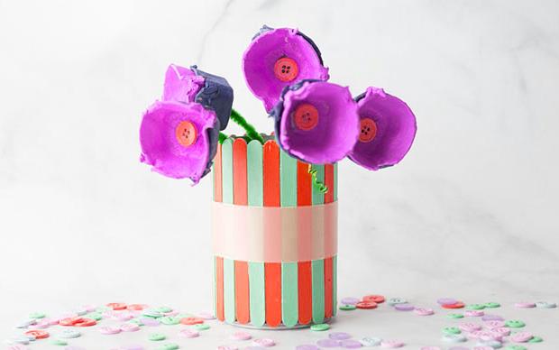 Egg Carton Flower Kids Craft