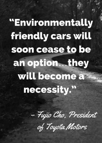 Fujio Cho earth day 2021 quotes