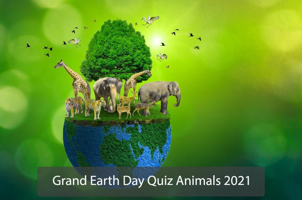 Grand earth day quiz animals 2021