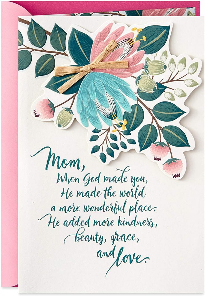Hallmark Dayspring Religious Mother's Day Card for Mom (Kindness, Beauty, Grace, Love)2021