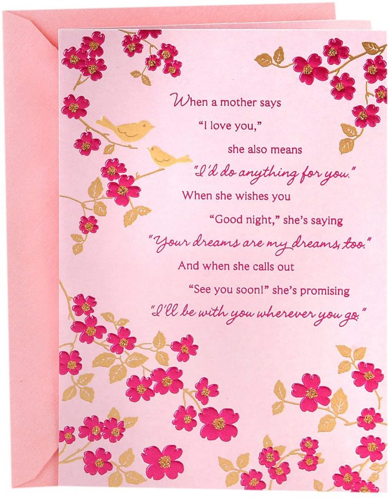 Hallmark Mother's Day Card for Mom (Many Ways You've Shown Your Love) 2021
