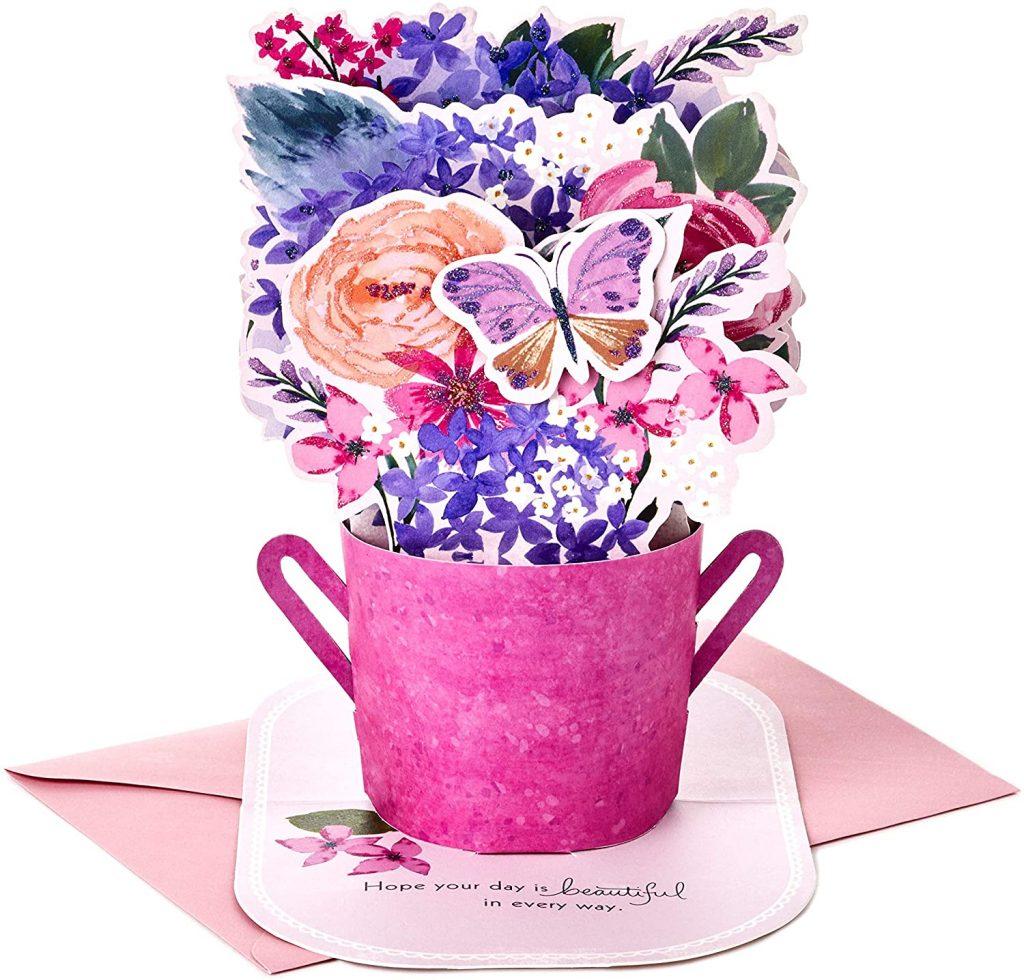 Hallmark Paper Wonder Mothers Day Pop Up Card (Purple Flower Bouquet, Beautiful in Every Way 2021