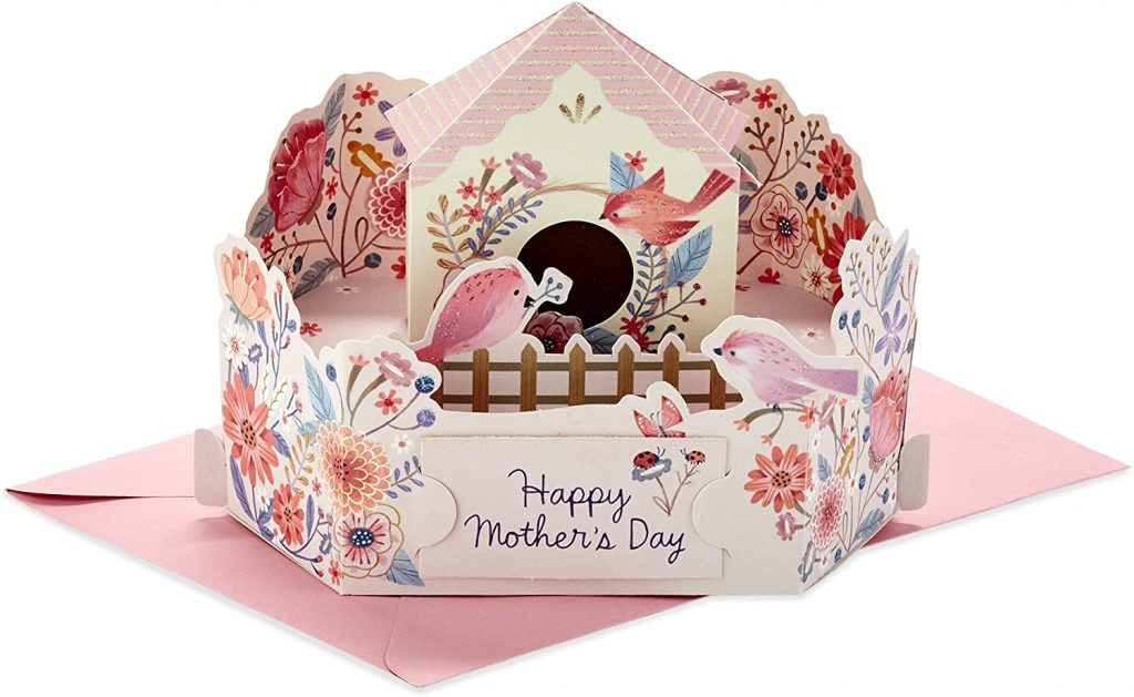 Hallmark Pop Up Mothers Day Card (Displayable Bird House) 2021