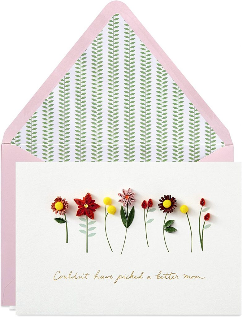 Hallmark Signature Mothers Day Card Quilled Flowers, Couldn't Have Picked a Better Mom 2021