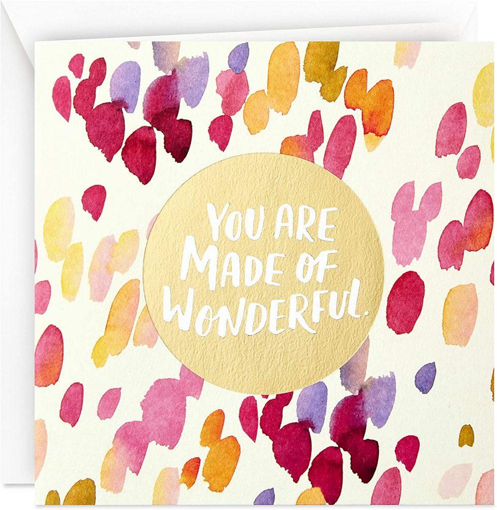 Hallmark Studio Ink Mothers Day Card (Made of Wonderful) 2021