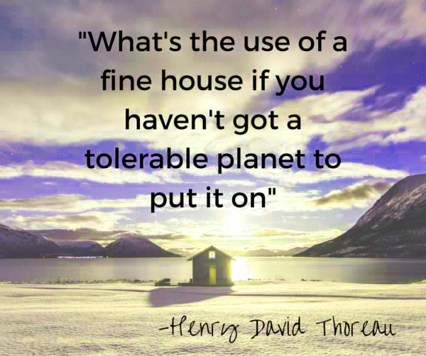 Henry David Thoreau earth day 2021 quotes