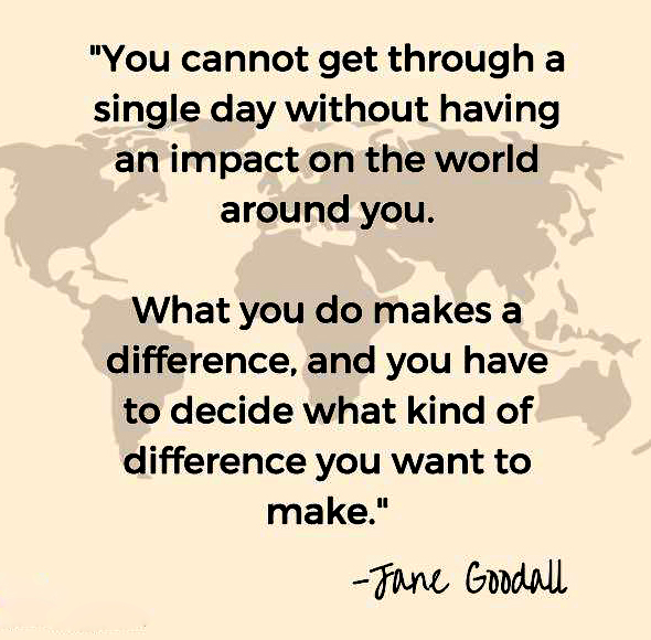 Jane Goodall earth day quotes 2021