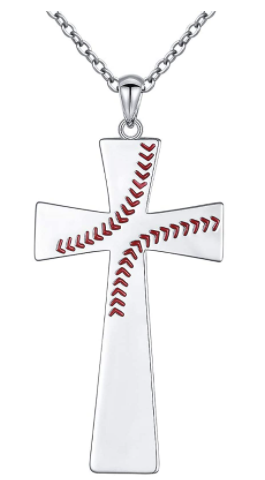 Men's S925 Sterling Silver Cross Pendant Necklace good friday gifts