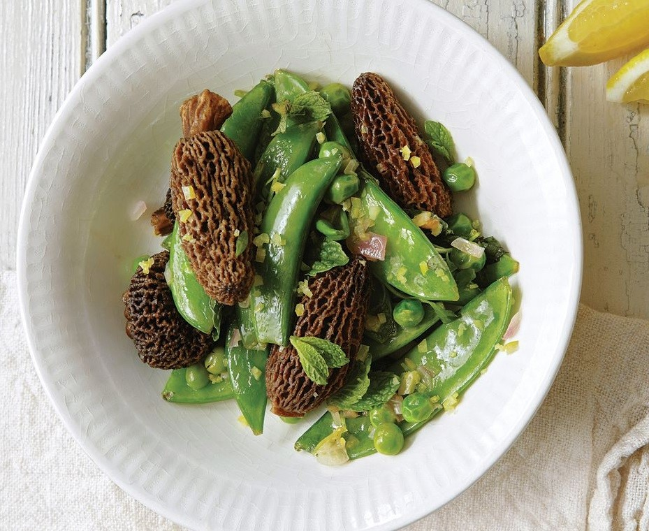 Morels contain Mint, Peas, and Shallot Delicious Spring Equinox Food Ideas 2021