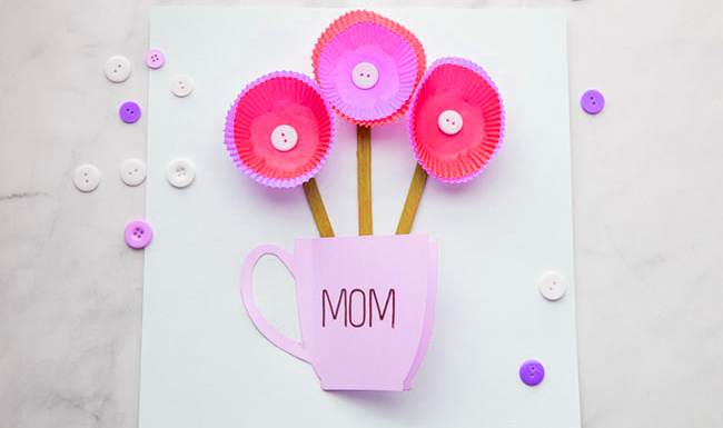Mothers Day Card Handmade Craft