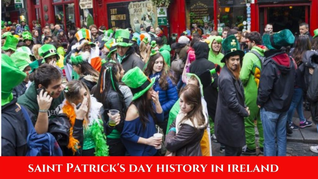 On St. Patrick's Day in Ireland
