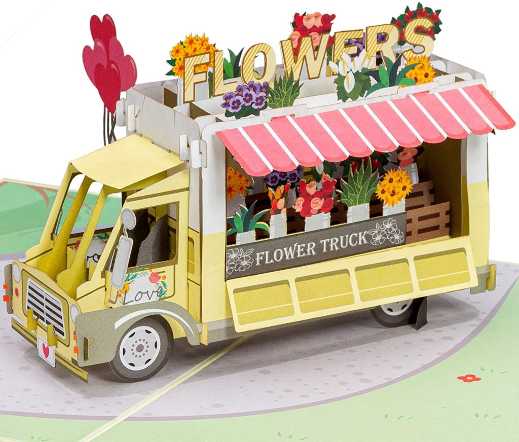 Paper Love Flower Truck Pop Up Card mother day cards 2021