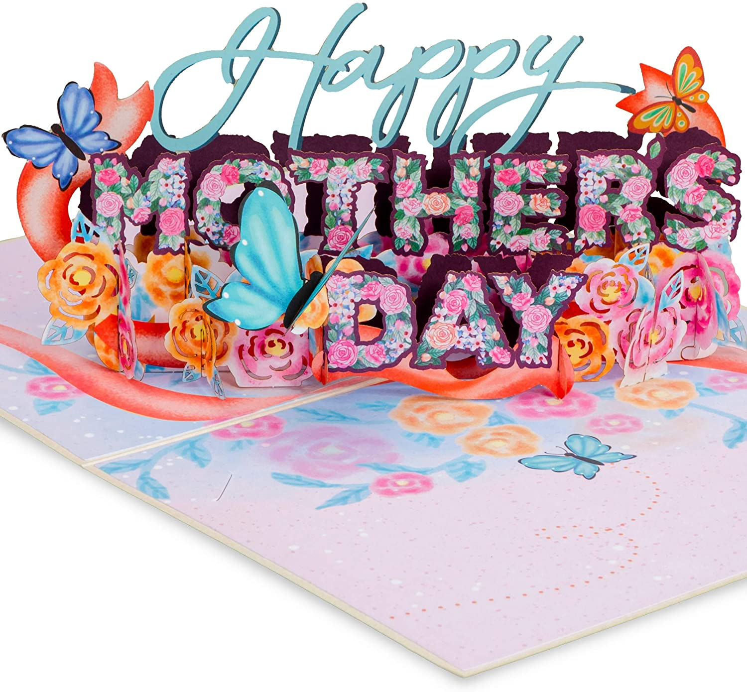 Paper Love Happy Mothers Day Pop Up Card mother day wishing card 2021