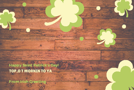 St Patrick's Day Phrases by Irish Greeting