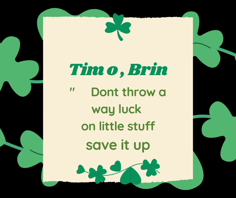 St Patrick's Day Phrases by Tim O'Brien