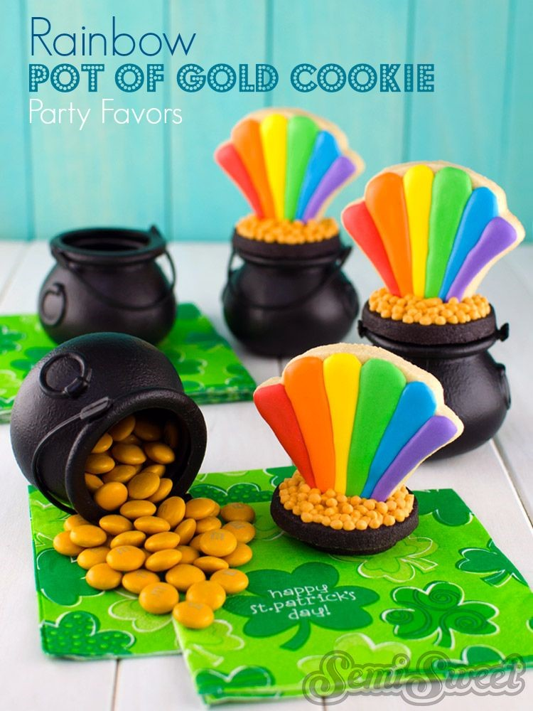 St. Patrick's Day Cookies Rainbown party favors