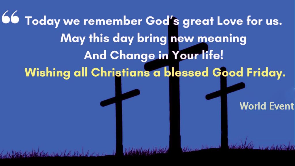 Wishing all a Happy Good Friday