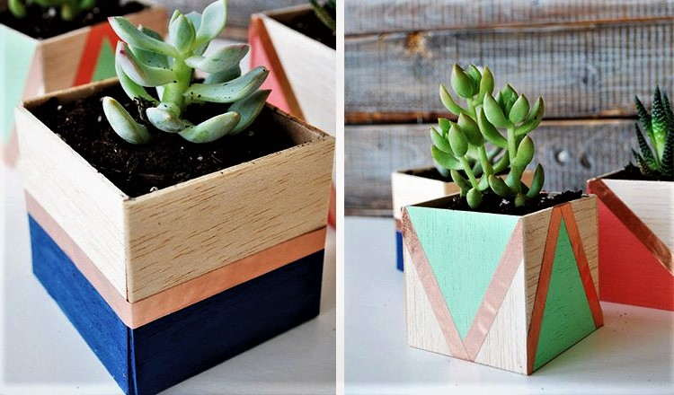 balsa wood planters mother's day activities for toddlers