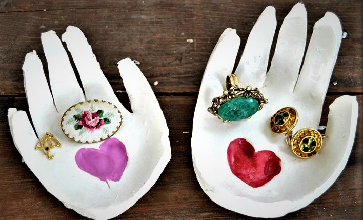 clay hand jewelry holder mother's day activities for toddlers