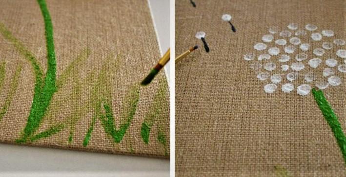 dandelion fingerprint art mother's day activities for toddlers