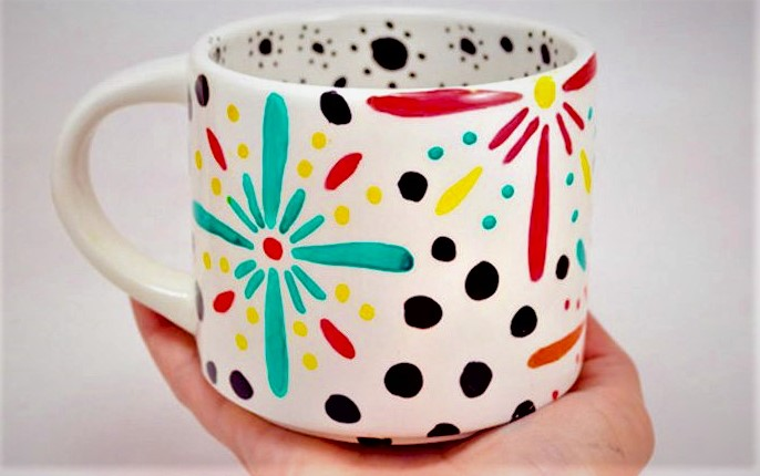 diy floral mug mother's day activities for toddlers