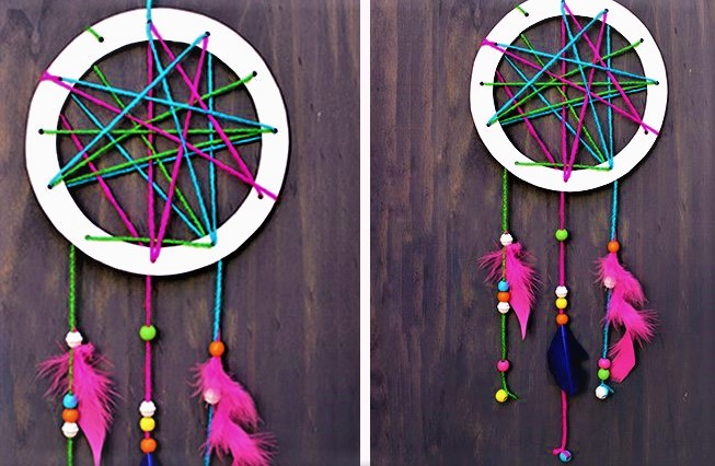 diy kids dreamcatcher mother's day activities for toddlers
