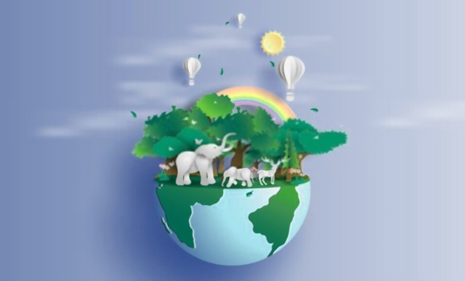 earth day poster of animal wild life 2