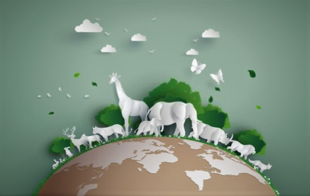 earth day poster of animal wild life