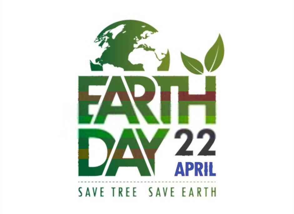 earth day text poster image