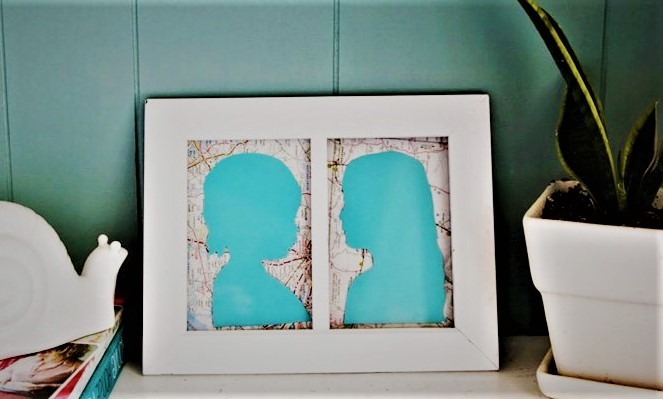 easy silhouette art mother's day activities for toddlers