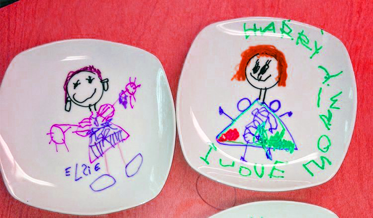 mothers day plates mother's day activities for toddlers