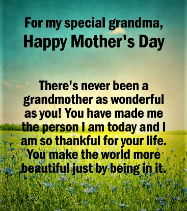 mother's day wishes for grandma