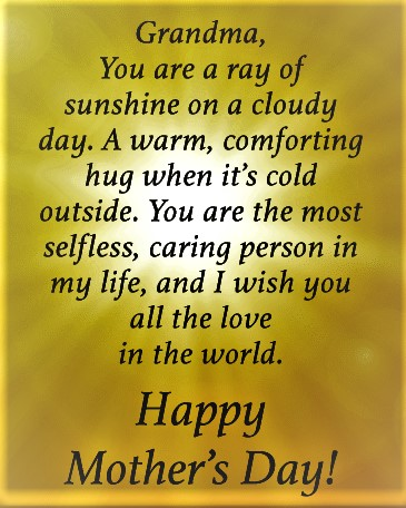 mother's day wishes for grandma 10